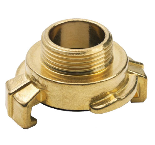 Geka DIN Express Male Thread Coupling - Brass